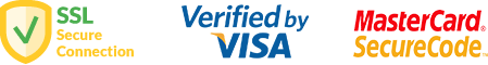 SSL secure conection / verified by VISA / Master Card Securecode