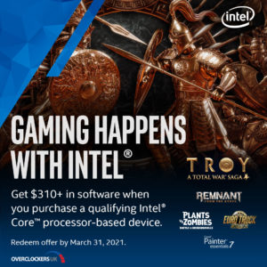 Get over £200 of FREE games and software with Intel