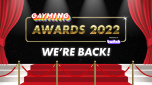 Hugely successful Gayming Awards to return for 2022 with in-person event